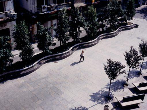 España Square in Blanes
