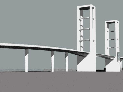 Puente en el Puerto de Barcelona