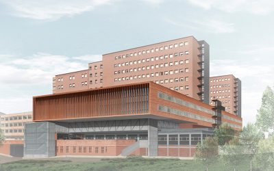 Finalists in the competition for the expansion of Josep Trueta Hospital