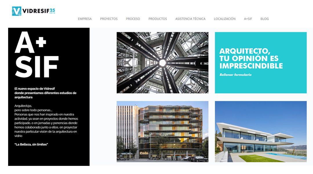 Artículo sobre el estudio CDB Arquitectura en Vidresif